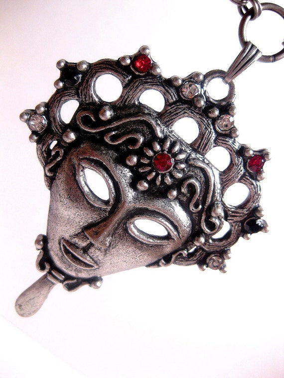 Aztec Queen Zombie Face Necklace Long