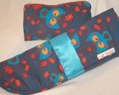 Flat Iron Case Make-up Bag Gift Set - Owl Corduroy