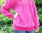 Vintage pink oversized sweater size medium