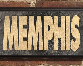 Memphis Tn Wall Art Sign Plaque Gift Present Personalized Color Custom Location Home Decor Beale Graceland Mississippi River Peabody Blues