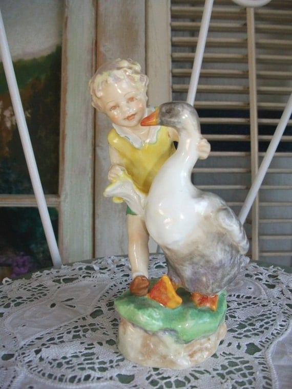 Royal Worcester Goosie Goosie Gander Figurine