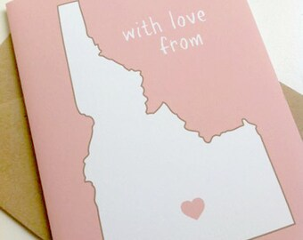 Custom State Note Cards or Greeting Cards, Travel Note Cards, Custom Stationary, Custom Greeting Cards