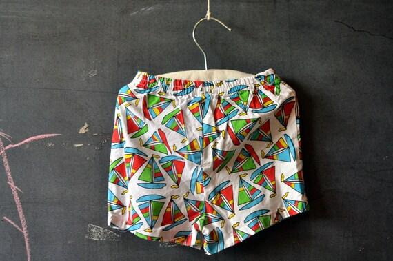 SALE summer sailboat shorts for toddler, size 18 months