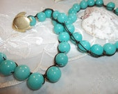 Tranquil Turquoise Bead Necklace / Bracelet Shabby Beach Chic...Surfer Girl