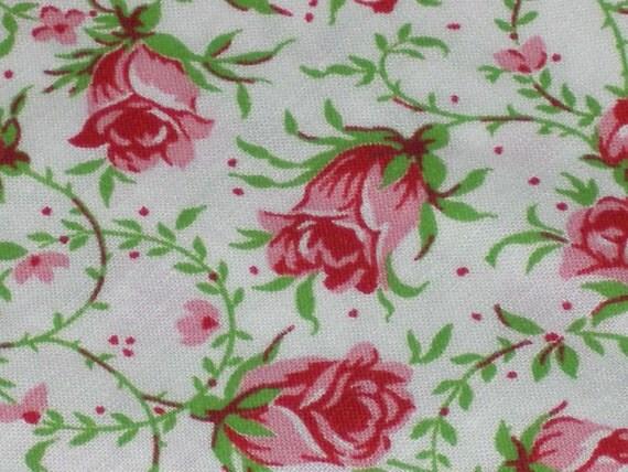 4 Vintage Cotton Floral Napkins...So Cottage Chic