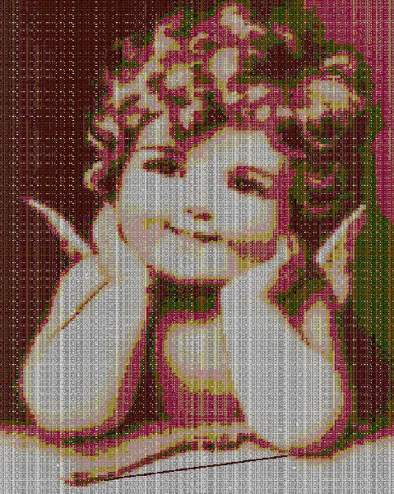 Items Similar To Little Cute Cherub Angel Cross Stitch