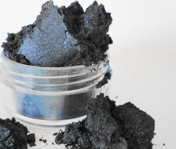 Goth Mineral Makeup  Blue Black Eye Shadow  10g Sifter Jar dark smokey eye eyeshadow
