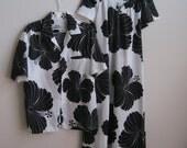 Vintage Hawaiian Muu Muu Dress & men's Shirt SET Hilo Hattie SALE