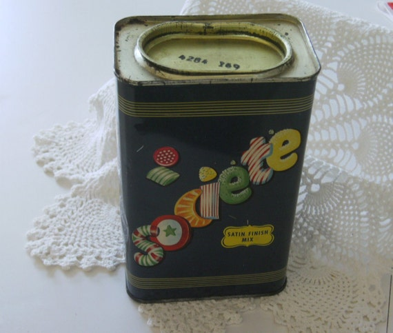 Vintage Metal Tin Box Societe Candy- large Country Store size  NO bar code.