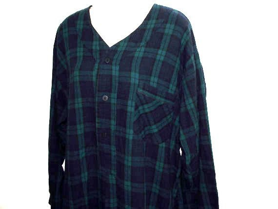 Vintage nightgown night shirt Plaid Flannel Vermont Country Store usa L