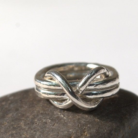 Silver Infinity Ring Silver Stacking Ring Silver Infinity Knot Ring by Urban Jule