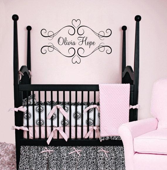 Items Similar To Heart Vinyl Wall Decal Baby Nursery
