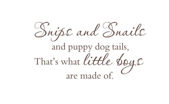 Items Similar To Snips And Snails And Puppy Dog Tails