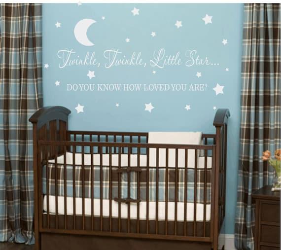 Cute Little Boy Bedroom Ideas Star Wars Bedroom Wallpaper Uk Bedroom Night Lamp Black Bedroom Paint Ideas: Items Similar To Twinkle Twinkle Little Star Vinyl Wall