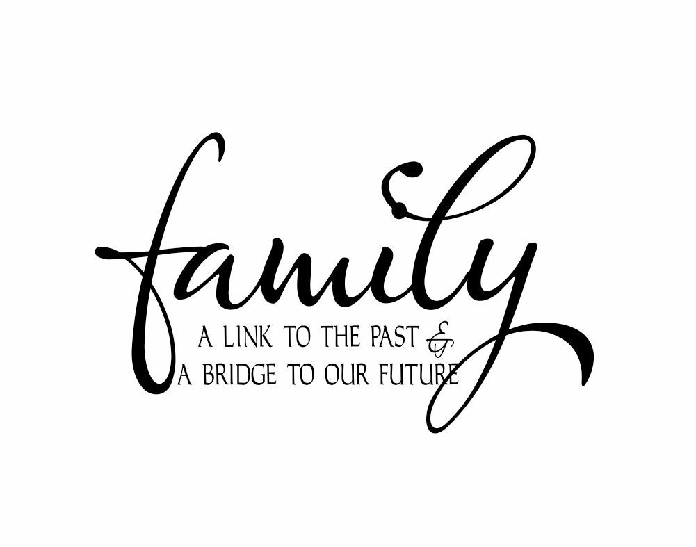 Foyer Room Quotes : Family wall decal vinyl quote saying for living by