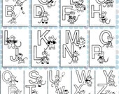 Printable Mouse Alphabet Colouring Pages