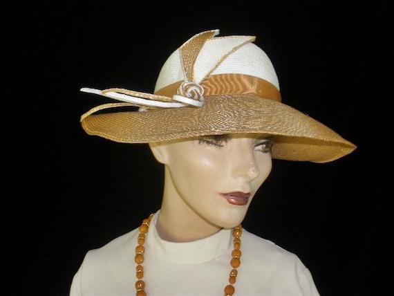 SALE Vintage 40s 50s 1940s 1950s Doris Portrait Picture Wide  Brim Straw Hat Derby Mad Men Wedding Tea Party