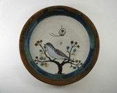 Vintage Ken Edwards Tonala Bird Plate / Wall Plaque, Mexico - Treasury Item