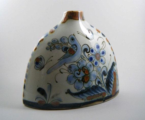 Vintage Ken Edwards El Palomar Tonala Pottery Shoulder Vase, Mexico
