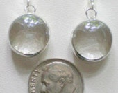Clear Stained Glass Earrings mini gems