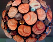 Stained Glass Table Lamp Seashells