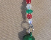 Christmas Jingle Bell Keychain / Purse Charm / Zipper Pull / Package Decoration