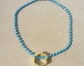 SUMMER SPECIAL Girl's Turquoise Anklet w/ Charm