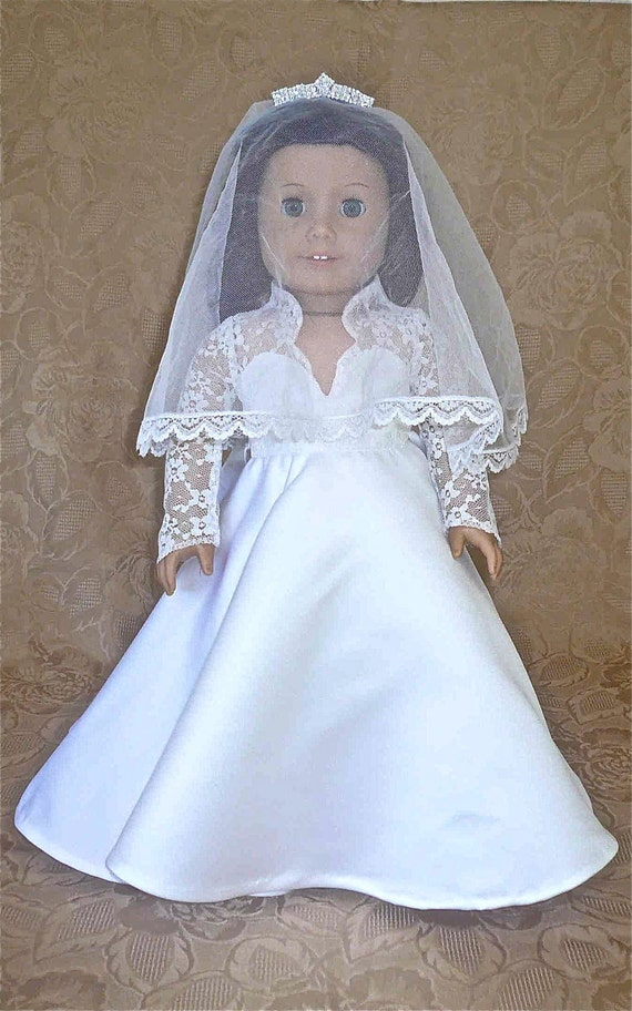 Items similar to american girl 18 inch doll clothes kate for American girl wedding dress