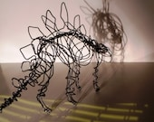 Wire Stegosaur Dinosaur sculpture