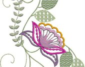 Magnificent Florals - These beautiful crewel designs are perfect for bedding and clothing.