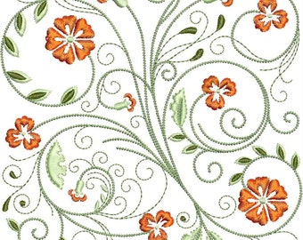 FabuFlower Blocks Machine Embroidery Design -  5x7 - floral embroidery, flower embroidery, embroidered flowers, embroidered florals