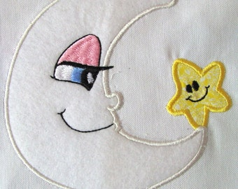My Little Moon 02 Machine Applique Embroidery Design 5x7