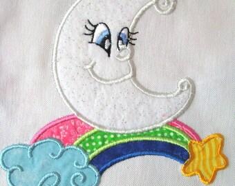 My Little Moon 10 Machine Applique Embroidery Design - 5x7