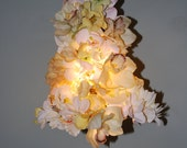 Repurposed/Recycled/Upcycled Silk Flower Chandelier Pendant Hanging Lamp