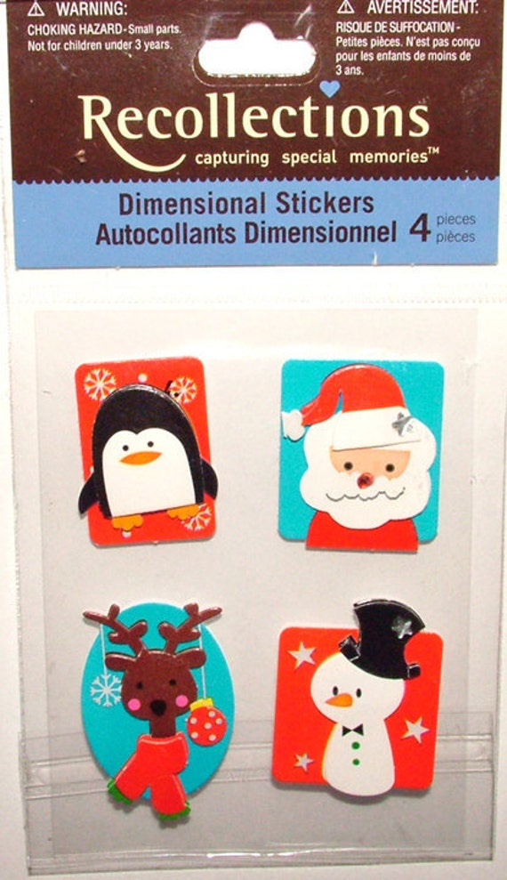 Recollections Dimensional Stickers - Holiday Collection