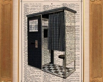 Retro Photo-booth Vintage Dictionary Print Vintage Book Print Page Art Upcycled Vintage Book Art