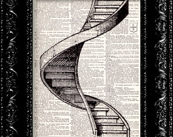 Led zeppelin Staircase To Heaven Vintage Dictionary Print Vintage Book Print Page Art Upcycled Vintage Book Art