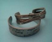 ladies cuff Inspirations by Auriya Milan bracelet jewelry pewter inspirational G150
