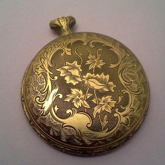 ladies pocket watch bezel pocket watch parts gold tone steampunk supplies watch body J131