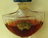 Vintage GUERLAIN Paris SHALIMAR PERFUME Bottle Blue Stopper Still Half Full