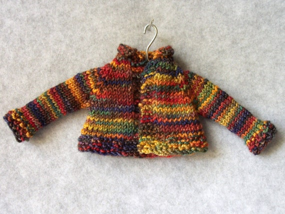 Hand knit cardigan for Barbie