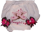 Cowgirl Bloomers, Cowboy Boots Bloomer, Personalized Cowgirl Bloomer, Embroidered Cowgirl Bloomer, Monogrammed Cowgirl Bloomer, Cowgirl Up