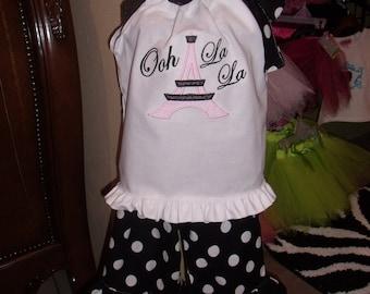 Boutique Ooh La La Pillowcase Shirt and Ruffle Pant, Capri or Shorts-Bloomer Sizes 3M to 6M