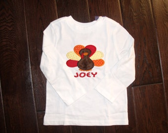Boutique Boys Turkey shirt.  Sizes Newborn to 18 Youth Long Sleeves or Short