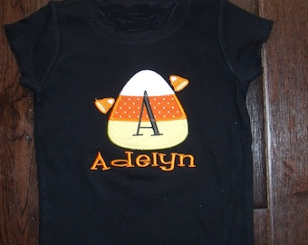 Boutique Cute Candy Corn Shirt Sizes 3M to 14 Youth