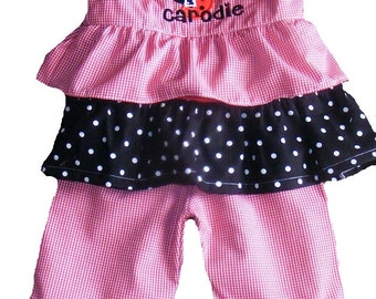 Boutique Ladybug Birthday Ruffle Shirt and Pant Set Sizes 6M to 5T