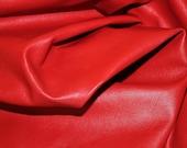 ITALIAN hides lambskin leather hide BEAUTIFUL RED 7sqf