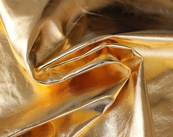 ITALIAN lambskin leather skin skins hide METALLIC GOLD 8sqf