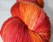 Maui Sunset: Hand Painted Superwash Sock Yarn