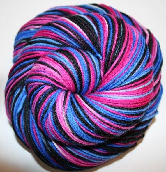 Walkin' like a Rollin' Stone: Superwash Merino/Nylon Self Striping Sock Yarn